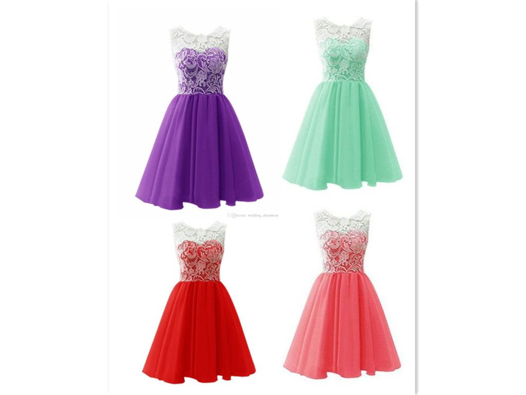 af971f64f9 Top Selling Cute Mint Handmade Lace Homecoming Dresses For Teens ...