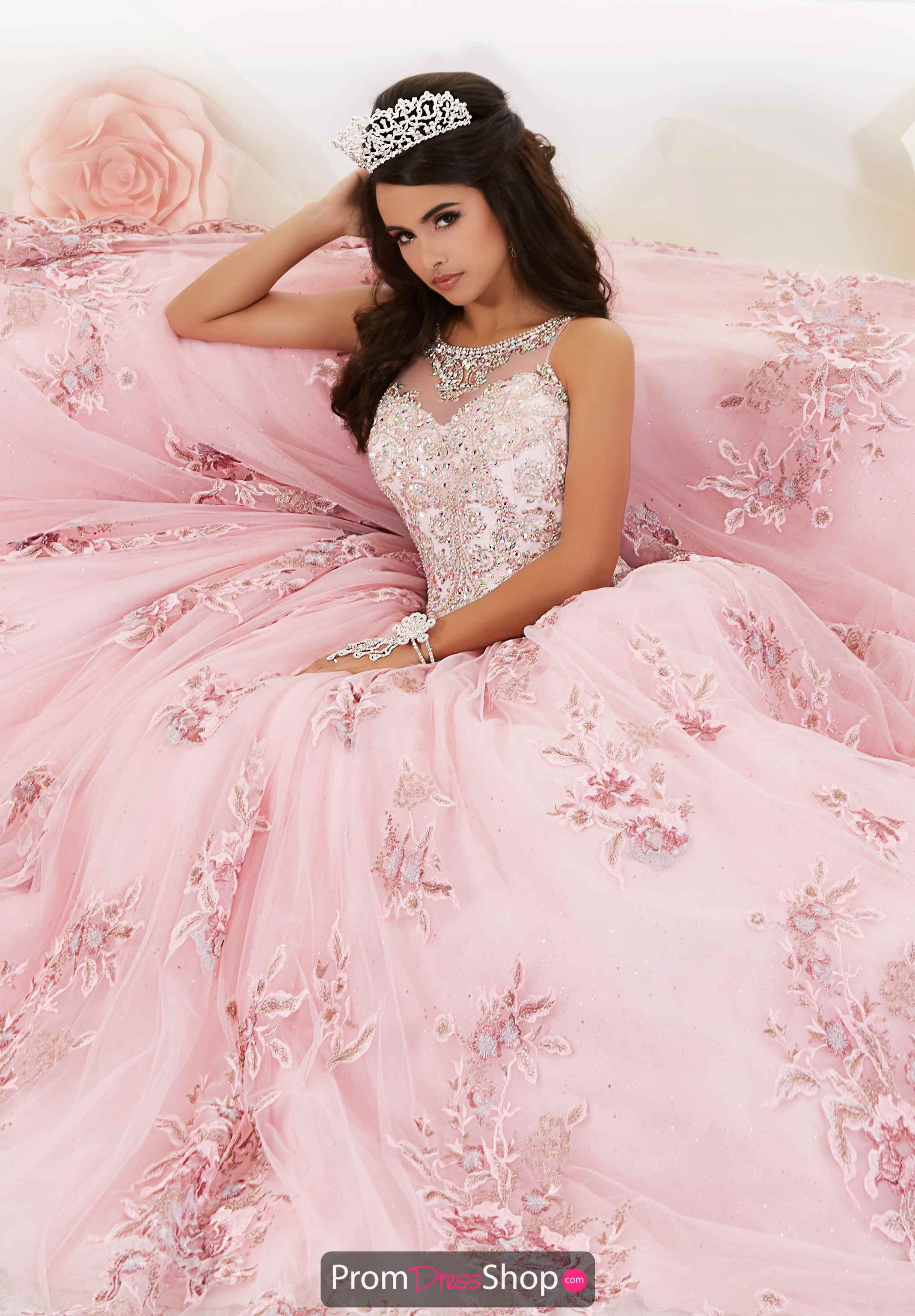 3c8862a6b Tiffany Quinceanera Beaded High Neck Gown 26884 in 2019