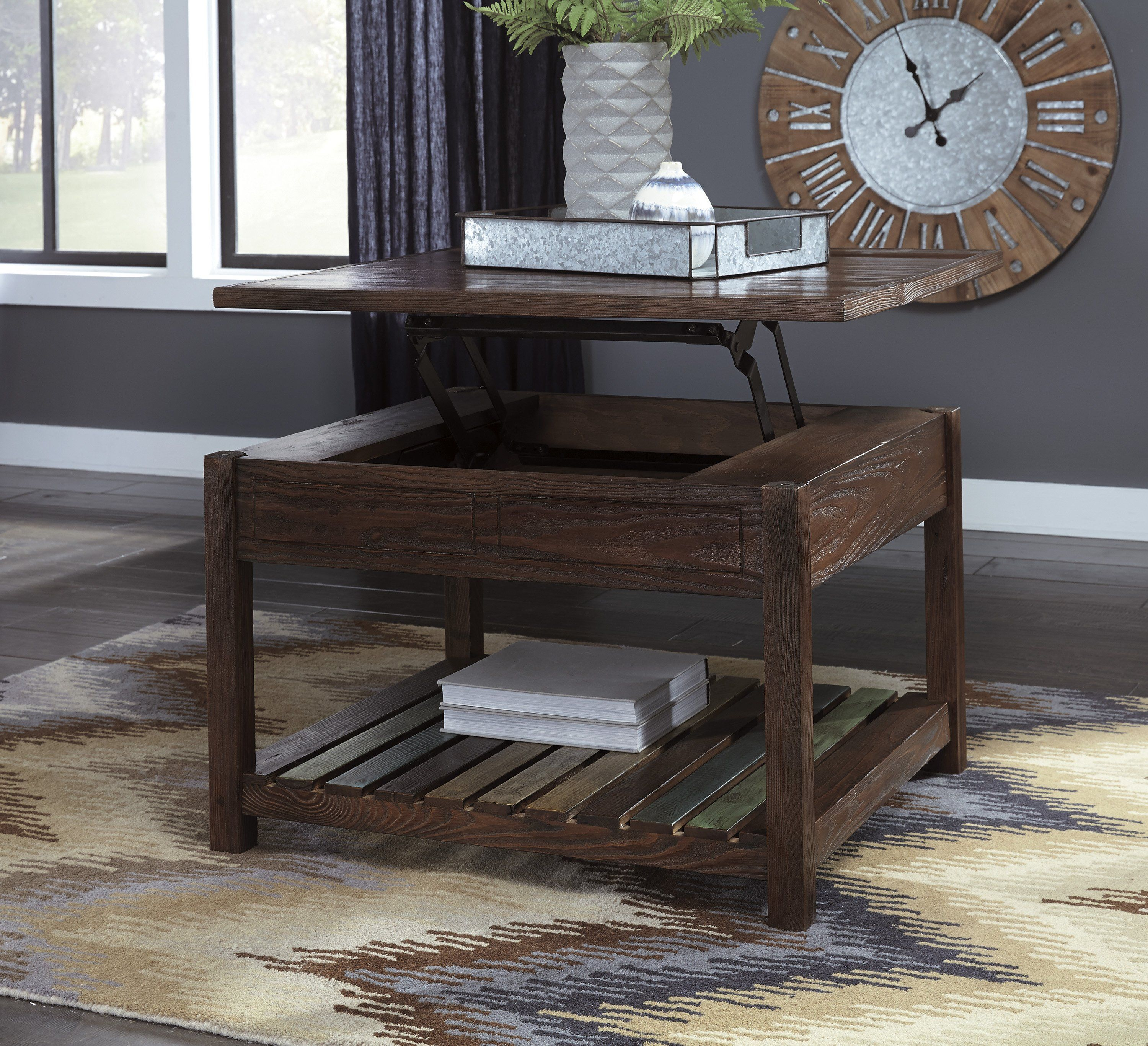 Mestler Lift Top Coffee Table Coffee Table Slatted Shelves Lift Top Coffee Table [ 2734 x 3000 Pixel ]