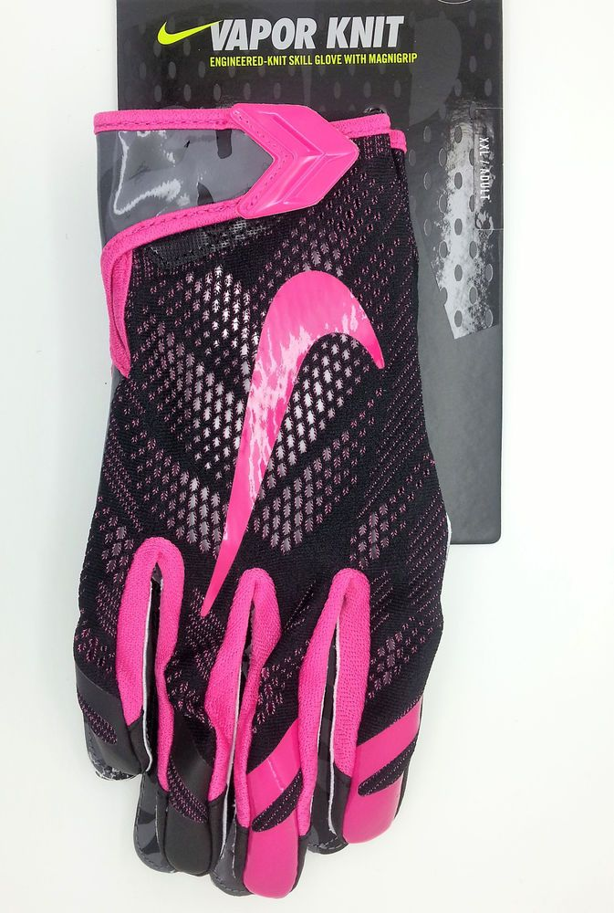 NIKE VAPOR KNIT MAGNIGRIP BLACK PINK FOOTBALL GLOVES PAIR (ADULT XXL) --  NEW  Nike 65702509bfc5