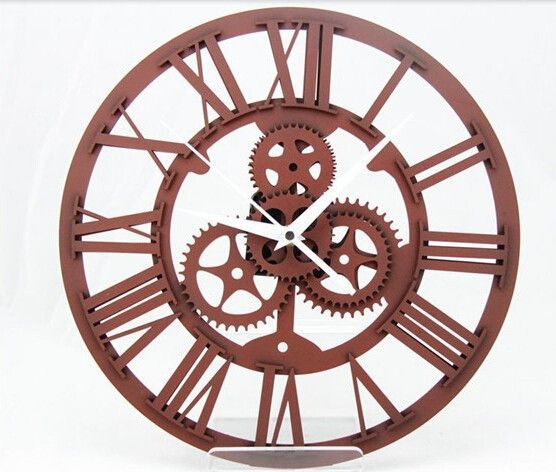 Large Mechanical Gear Wall Clock 4 Colors Your Pinterest Likes