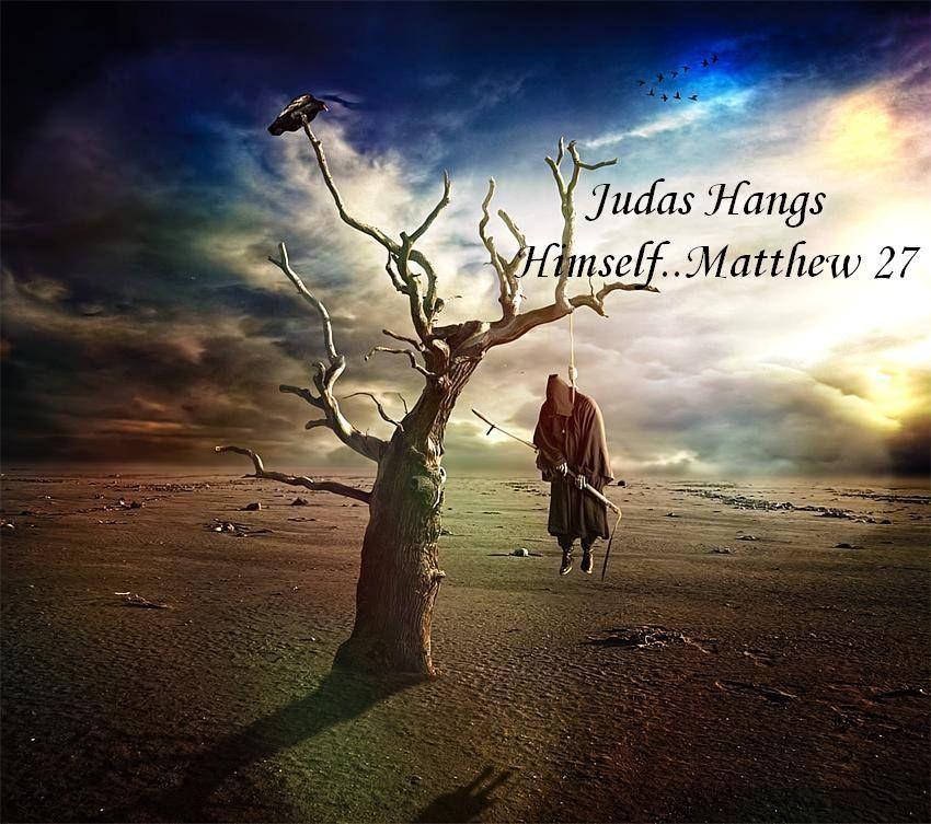 Matthew 27 Judas Hangs Himself | Dark artwork, Grim reaper, Death
