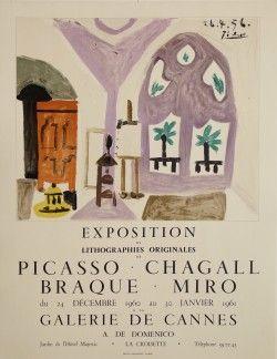 affiche ancienne, Chagall, Miro, Braque