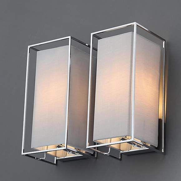 5a fifth avenue lasko set of 2 grey wall light fittings wall