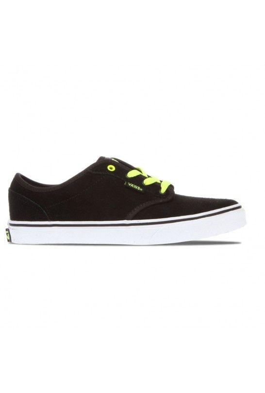 VANS ATWOOD SUEDE BLACK NEON YELLOW en el outlet de calzado de la tienda  online de Kaotiko Street Style. Compra tus Vans con descuento! c5546bf4abe