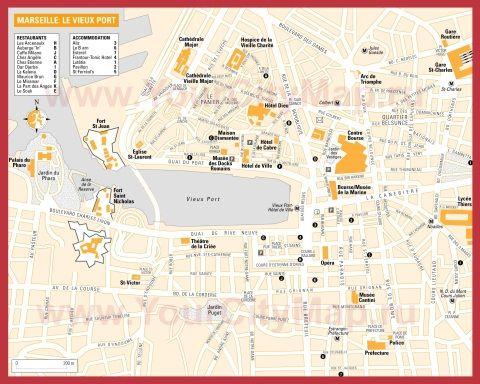 Карта МарсеРя с достопримечатеРьностями карты городов