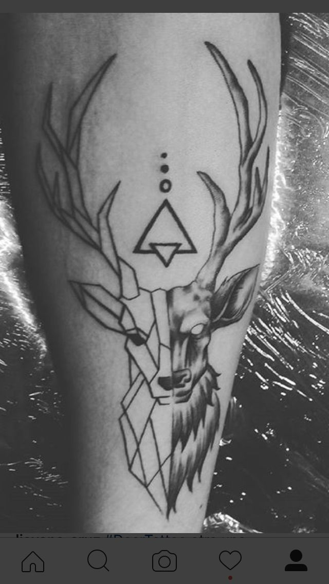 deer tattoo arm manu tattoos pinterest geometrie. Black Bedroom Furniture Sets. Home Design Ideas