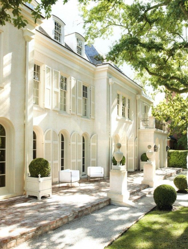 Residential Home Architecture White Cream Traditional French