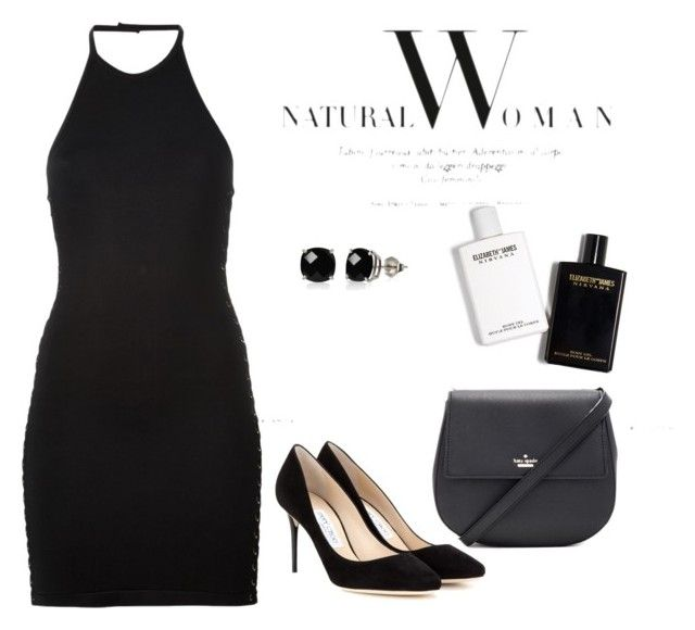 """""""Cena"""" by luziagalvang on Polyvore featuring moda, Balmain, Belk & Co., Kate Spade y Jimmy Choo"""