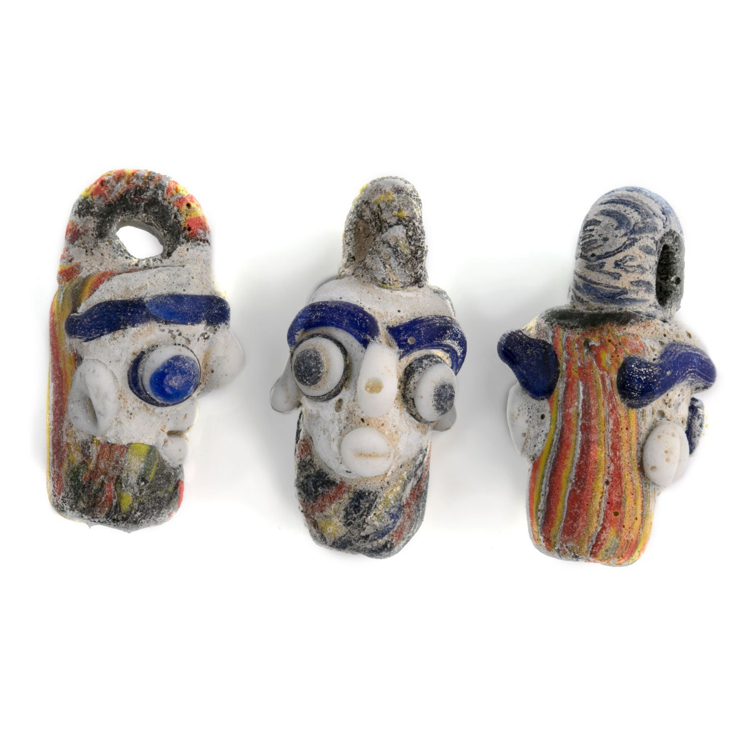 Ancient Phoenicia glass head pendant reproduction. Sold