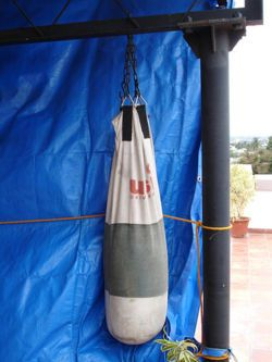 Make A Punching Bag Wikihow To Play The Sport Homemade