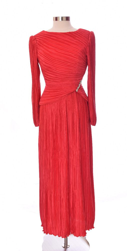 George F. Couture for Saks Fifth Avenue Red Evening Gown Size 8 ...