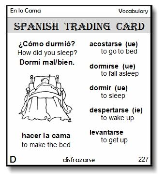 Spanish Trading Cards are HERE! Get your FREE printable sample set - sample trading card