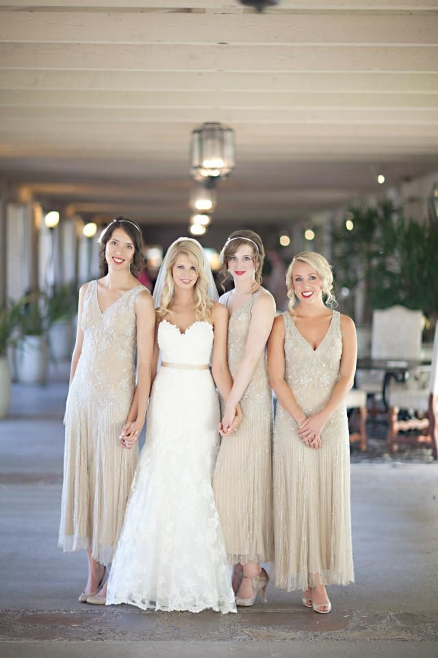1920s Bridesmaids Dresses Love The Vintage Feel Of These