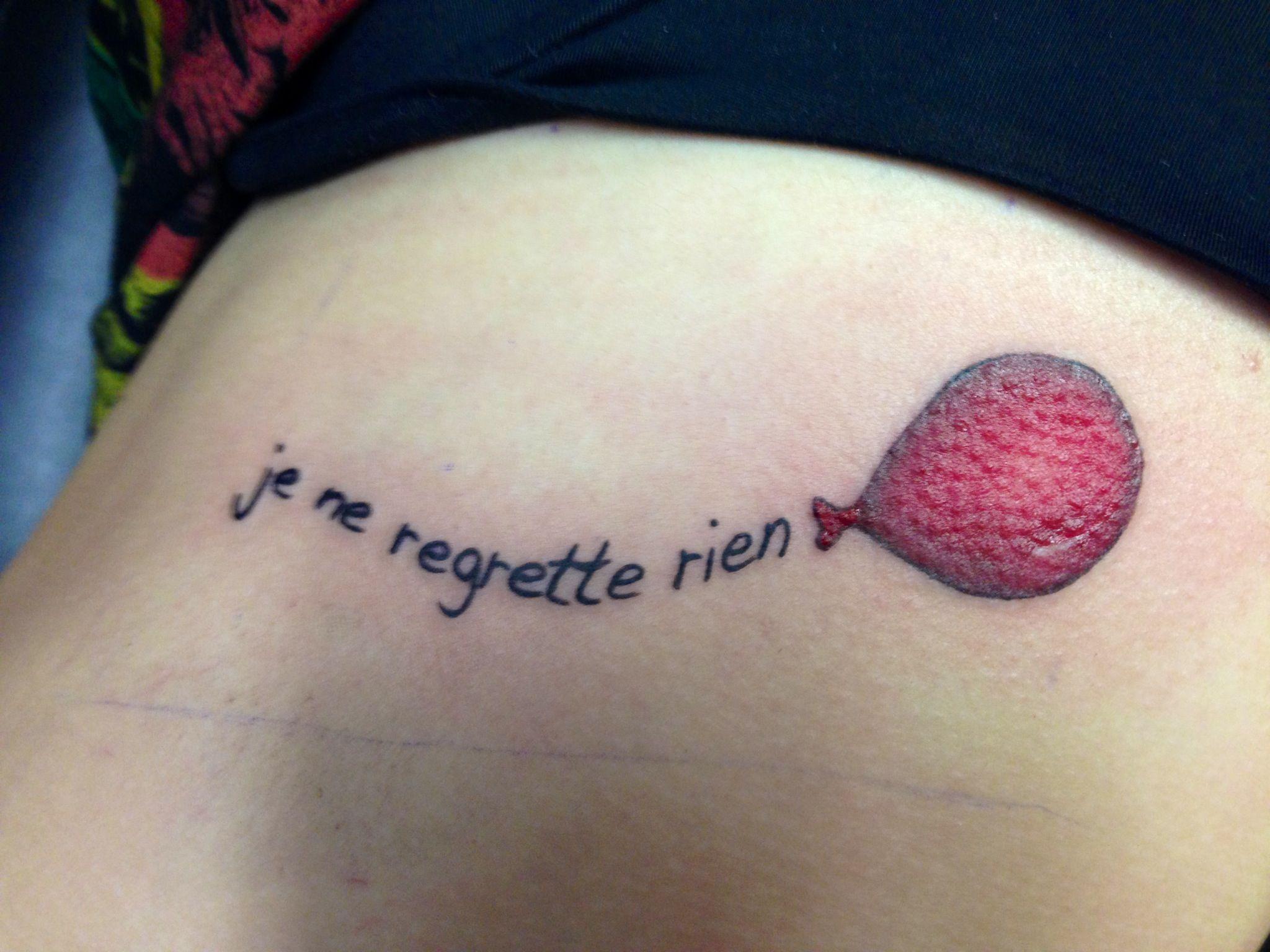 """Je ne regrette rien"""" French for """"I regret nothing"""" balloon for"""