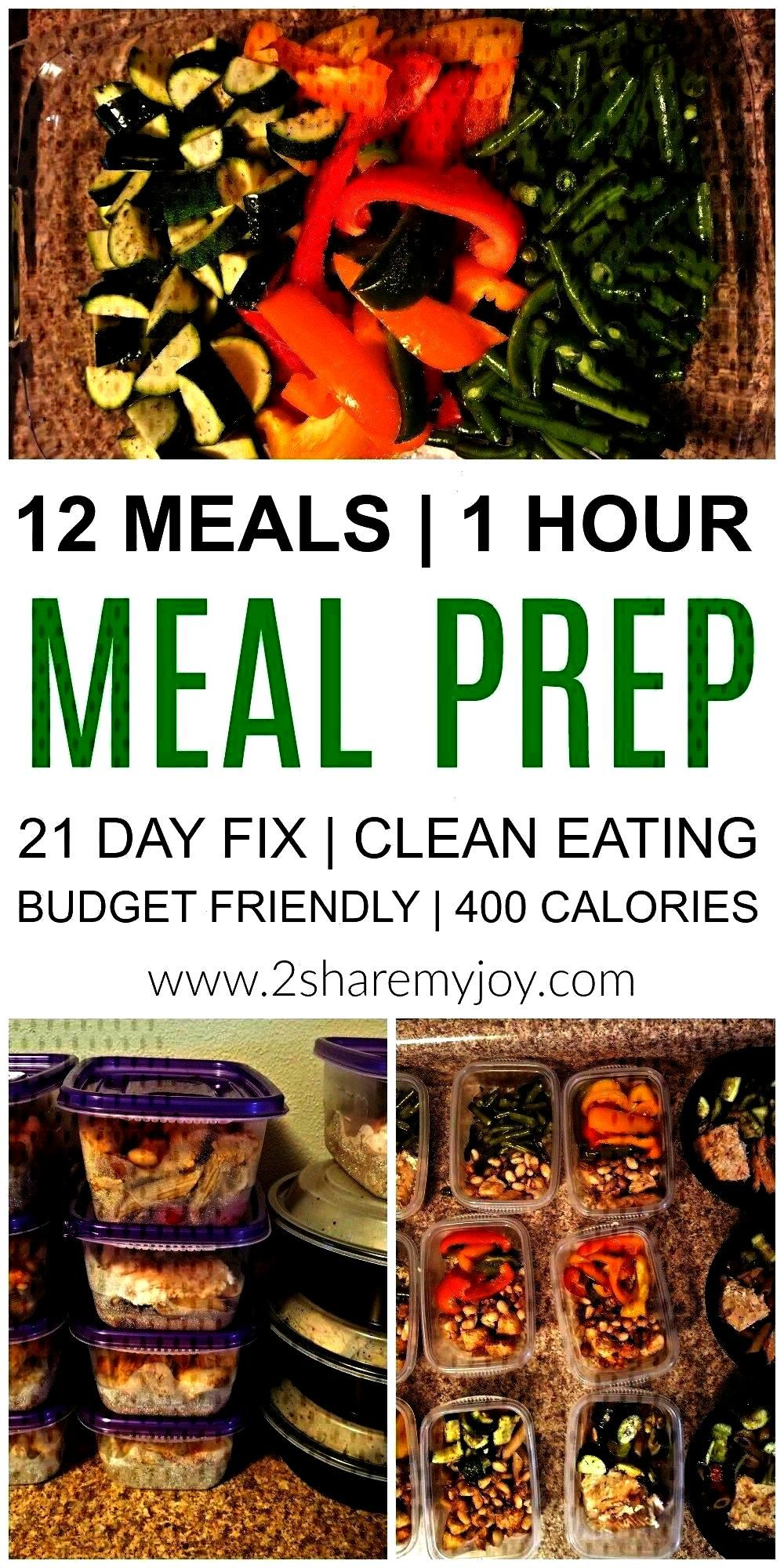 Healthy Lunches in 1 Hour -  Meal Prep: 12 healthy lunches in 1 hour. Make these healthy clean eati