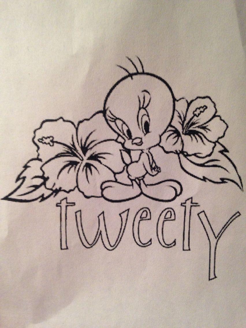 Tweety Tattoo Idea Tweety Bird Drawing Art Drawings Sketches Simple Bird Drawings