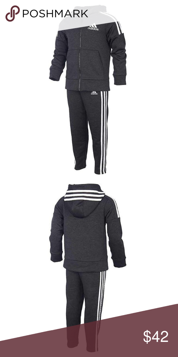 289cca787906 Adidas Boys 2 Piece Fleece Lined Active Set NWOT P061-07 NEW WITHOUT TAG  COLOR