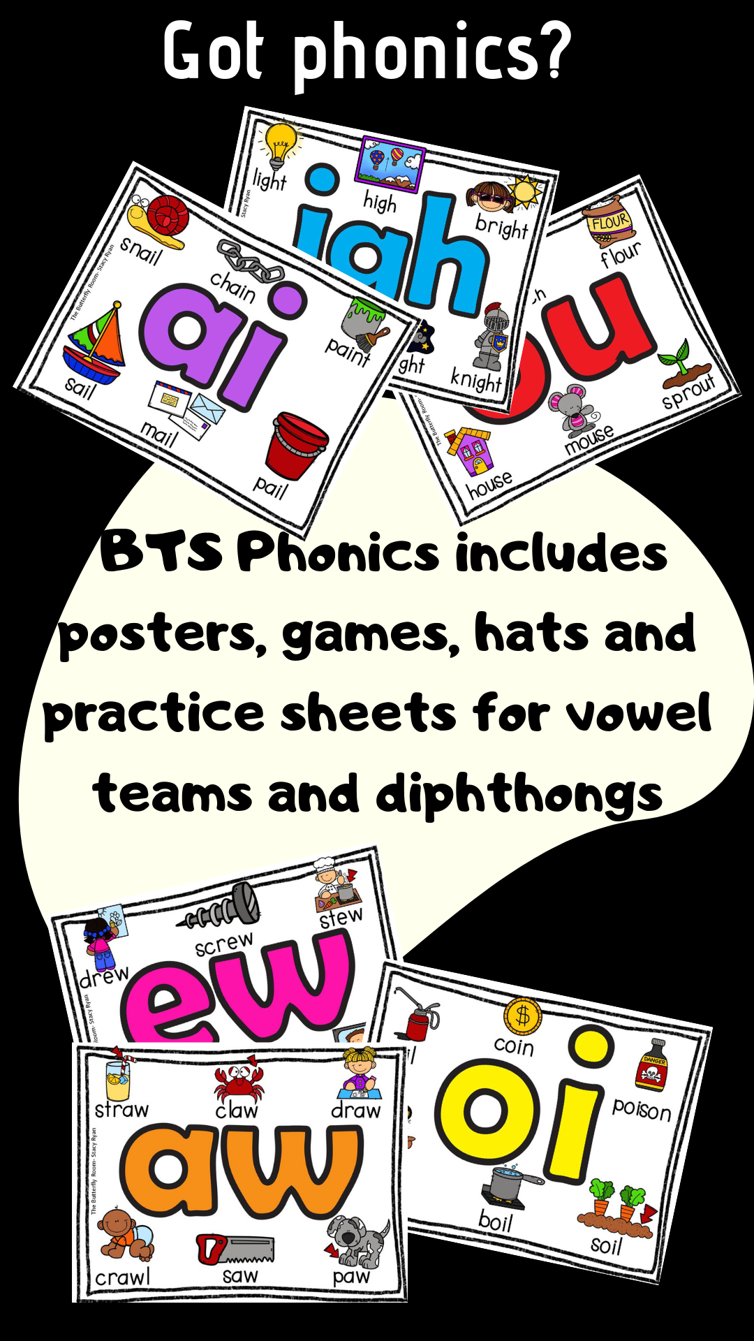 Back To School Phonics Double Vowels Diphthongs Centers