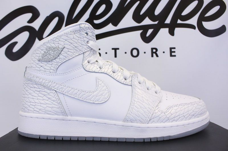 55305a66bb6f Air Jordan 1 Frost White Release Date. This Air Jordan 1 Retro High GS in  White and Pure Platinum is part of the Air Jordan Heiress Collection for