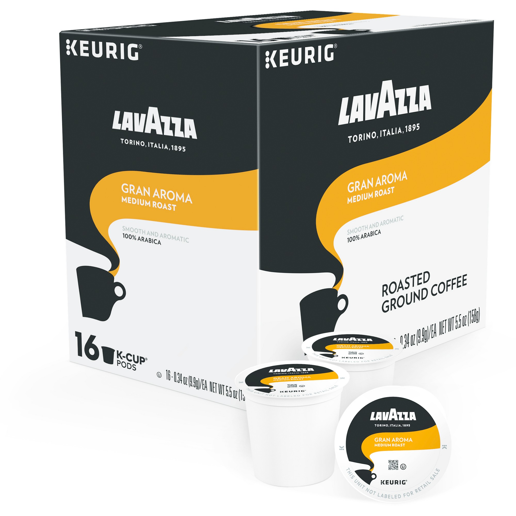 Lavazza Gran Aroma Medium Roast Coffee Keurig KCup Pods