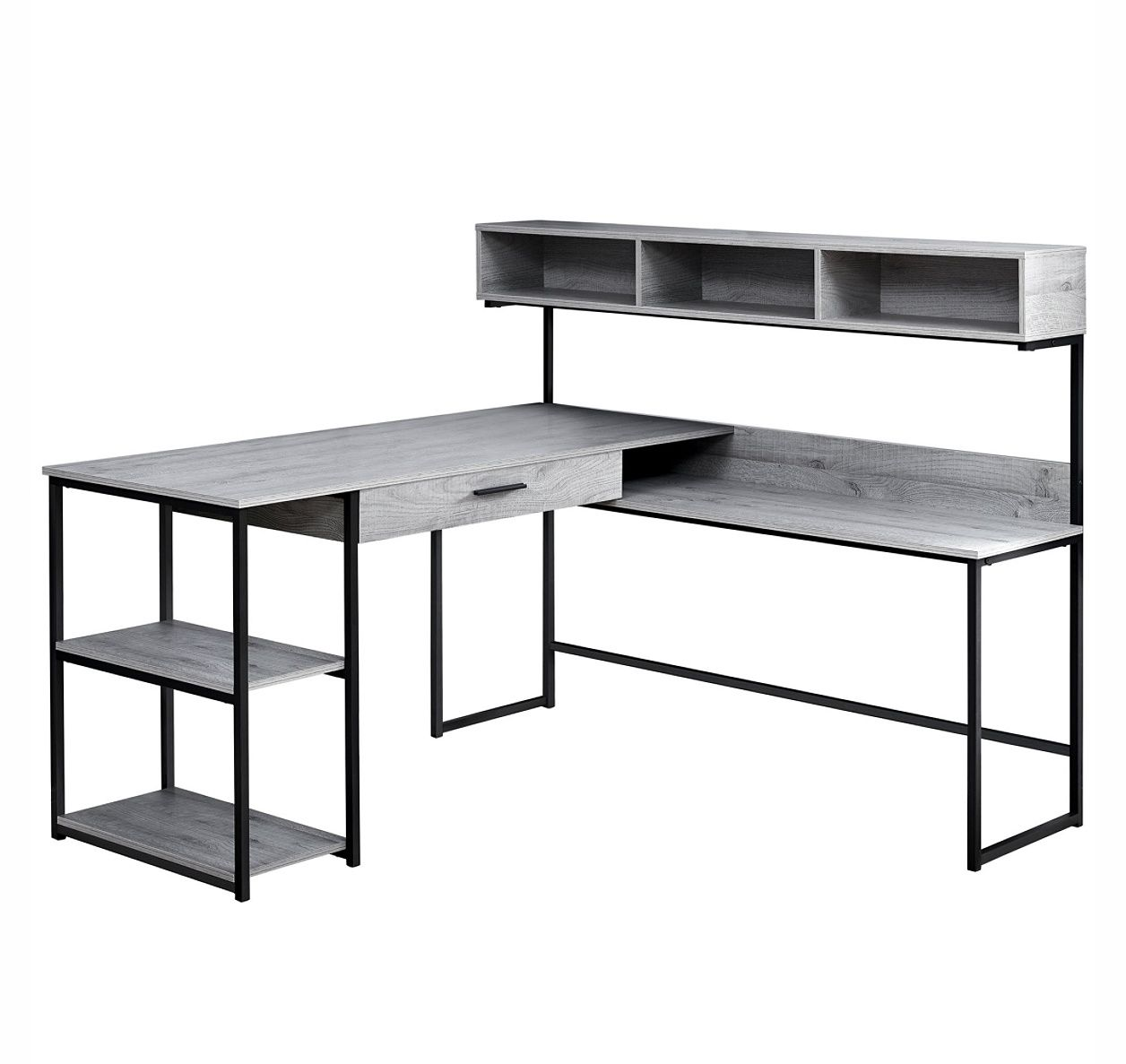 Monarch Specialties Corner Workstation Computer Desk Grayblack By Office Depot Officemax Corner Workstation Computer Desk Grey Corner Computer Desk