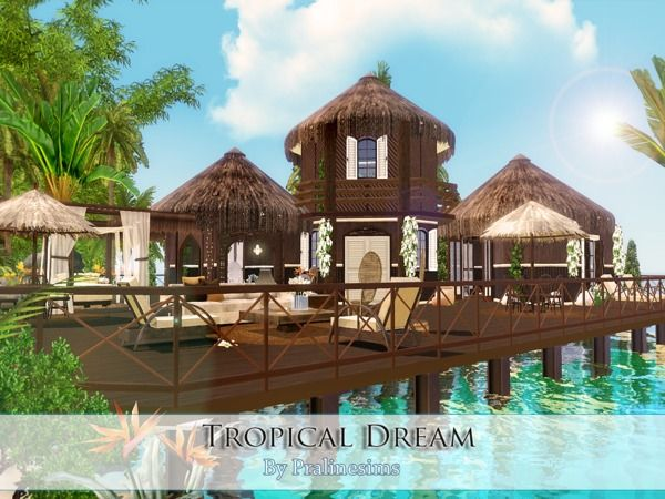 Tropical Dream By Pralinesims Sims 3 Downloads Cc Caboodle