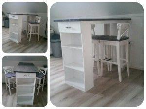 Keuken Bar Ikea : Bar tafel voor in de keuken. gemaakt door mijn vriend. de krukken