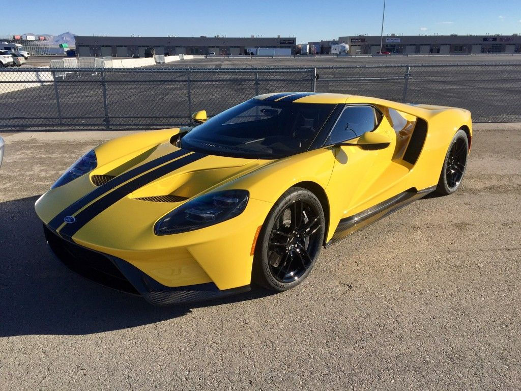 2017 Ford Gt Triple Yellow Ford Gt Ford Classic Cars Sports Cars Luxury