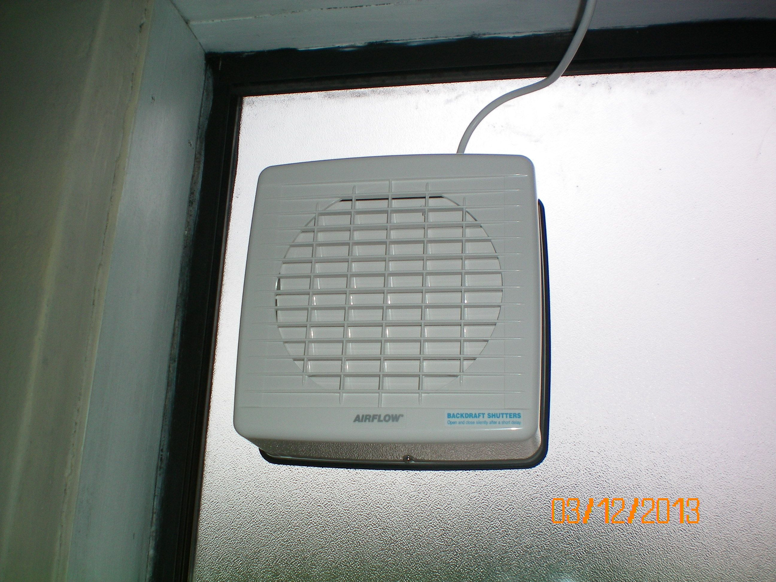 Complete Window Fan Installation Finnish Bathroom
