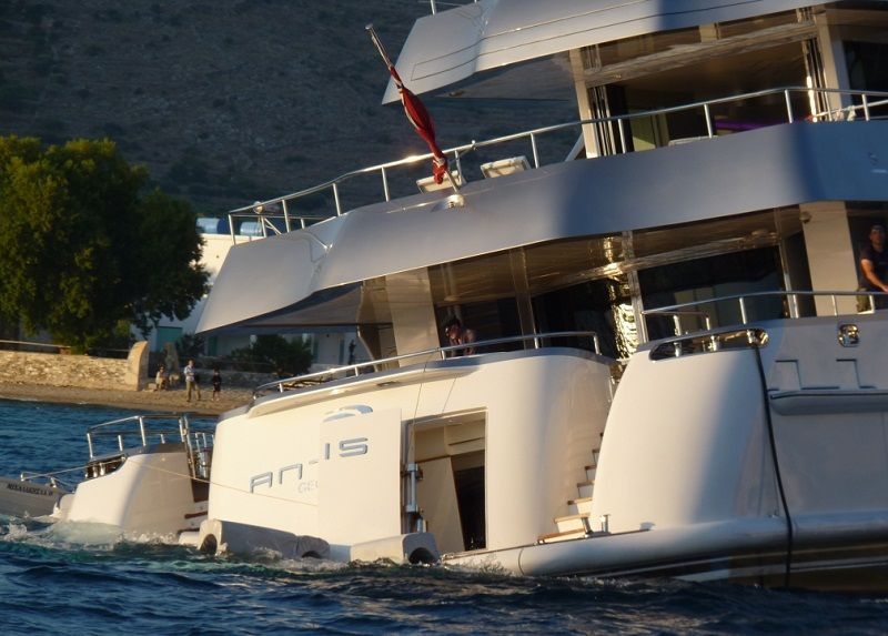 Superyacht Antalis In A Bind Last Summer When Stern Doors Can