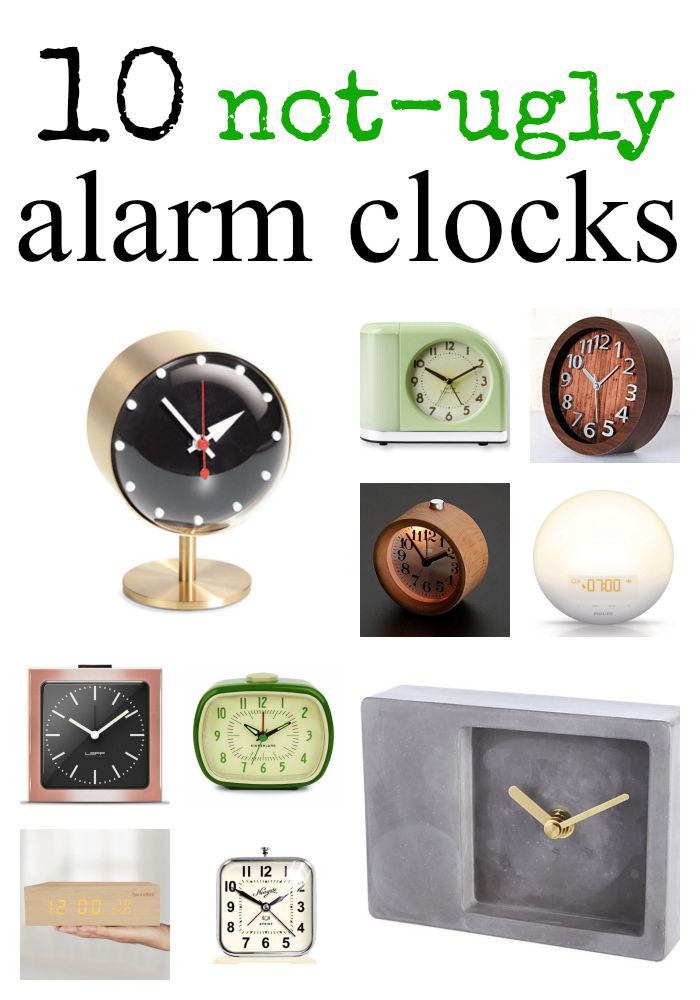 10 not-ugly alarm clocks | hollywood housewife the blog