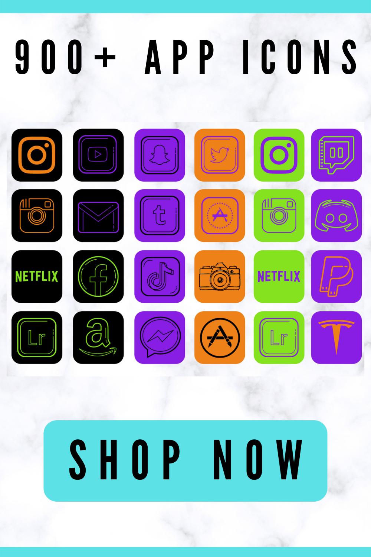 ios 14 app icons Halloween theme for iPhone, iOS 14 home screen ideas