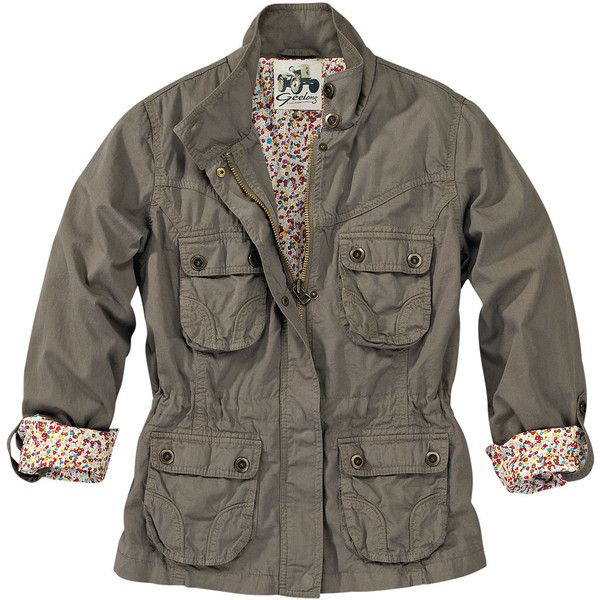 Geelong Jacket ❤ liked on Polyvore featuring outerwear, jackets, tops, coats, women, brown cotton jacket, cotton jacket, brown jacket and drawstring jacket