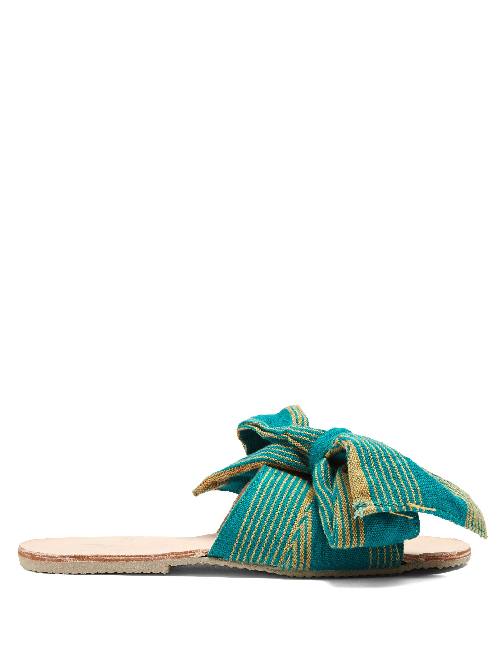 BROTHER VELLIES Burkina striped-bow slides Online Cheapest ixYqlAZJ