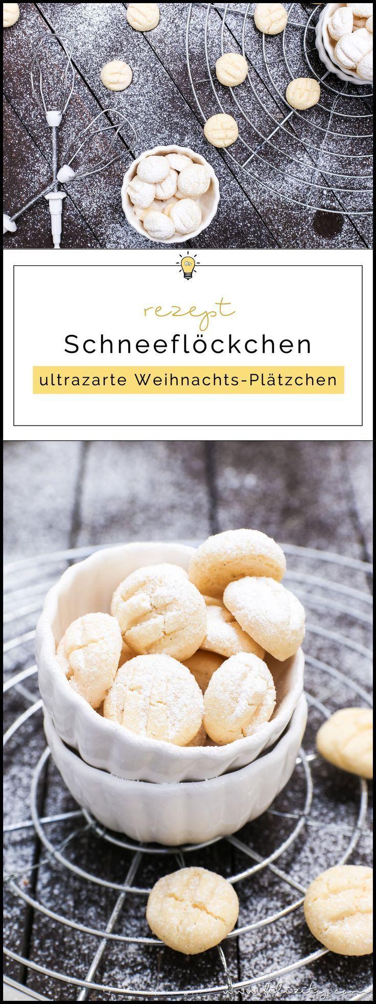 Schneeflöckchen - ultrazarte Weihnachts-Plätzchen | Filizity.com | Food-Blog aus dem Rheinland
