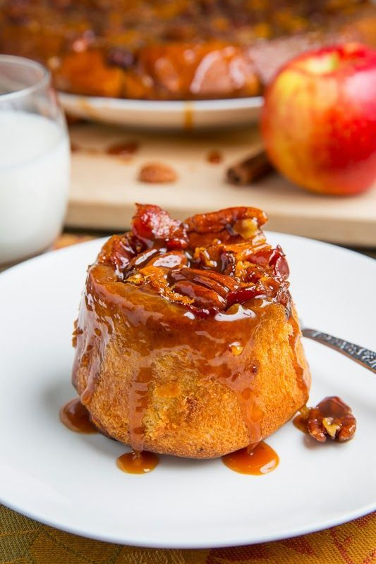 SweeTango Apple, Bacon and Cheddar Pecan Sticky Buns Recipe #stickybuns