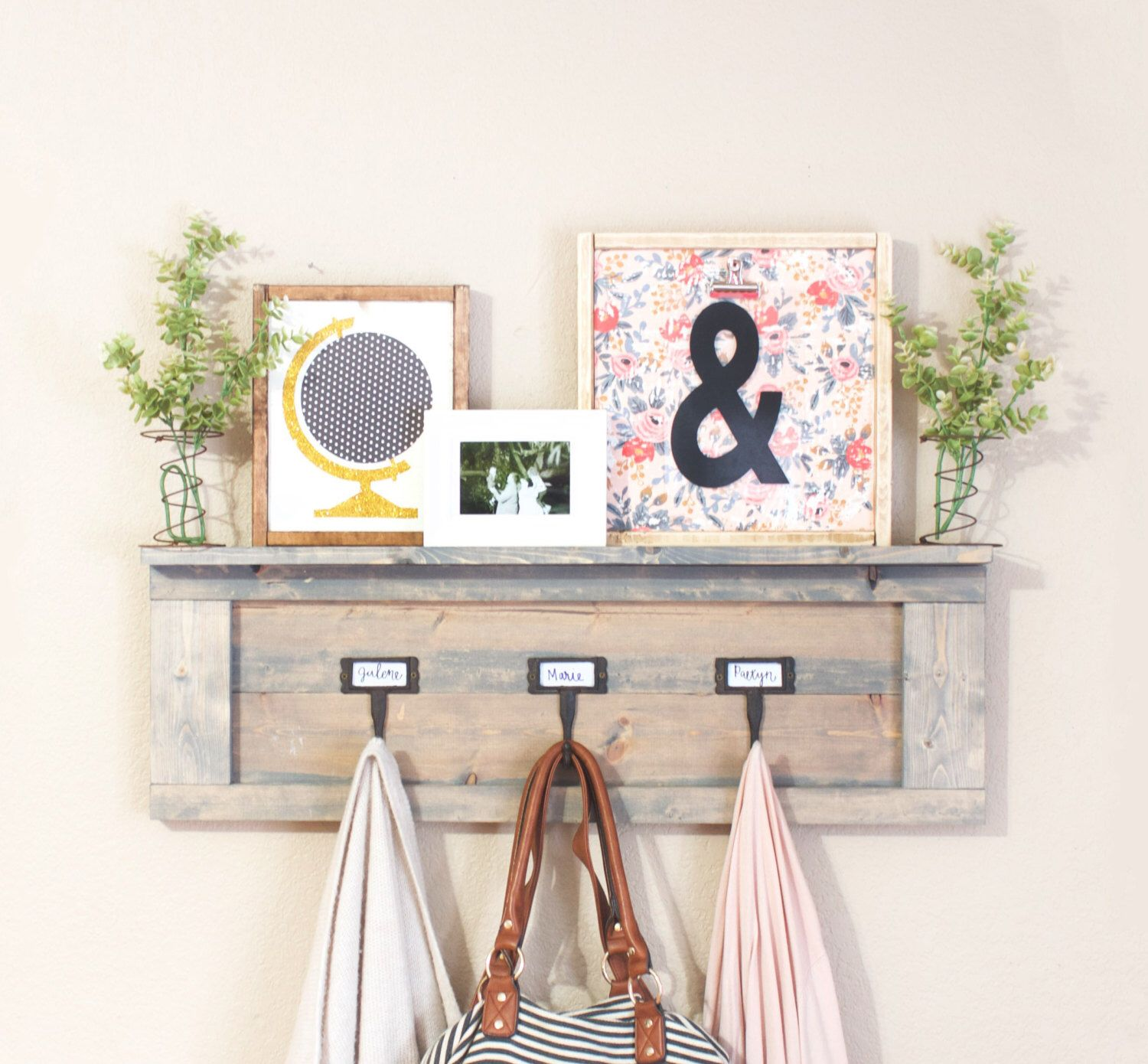 Inspirational Entry Table with Coat Rack