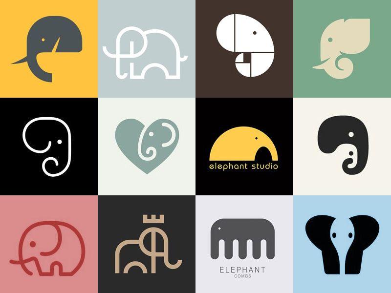 elefante-logo | Inspiration Crafts! | Pinterest | Elefantes y Osos