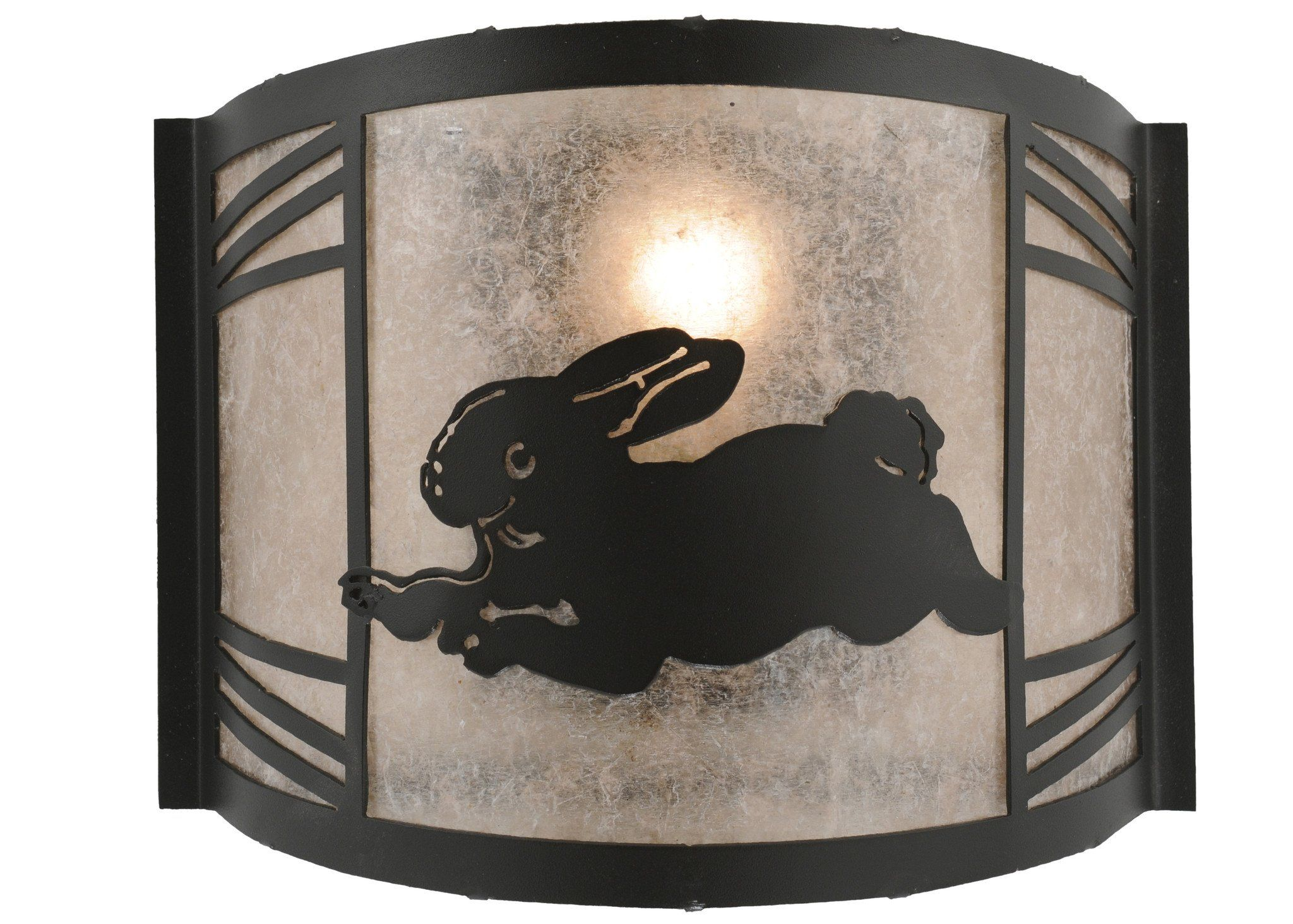 "Meyda 12""W Rabbit On The Loose Left Wall Sconce"