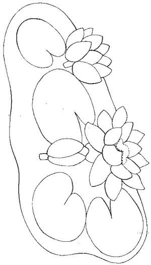 Water Lilies Coloring Page 7 Coloring Pages Frog Crafts Water