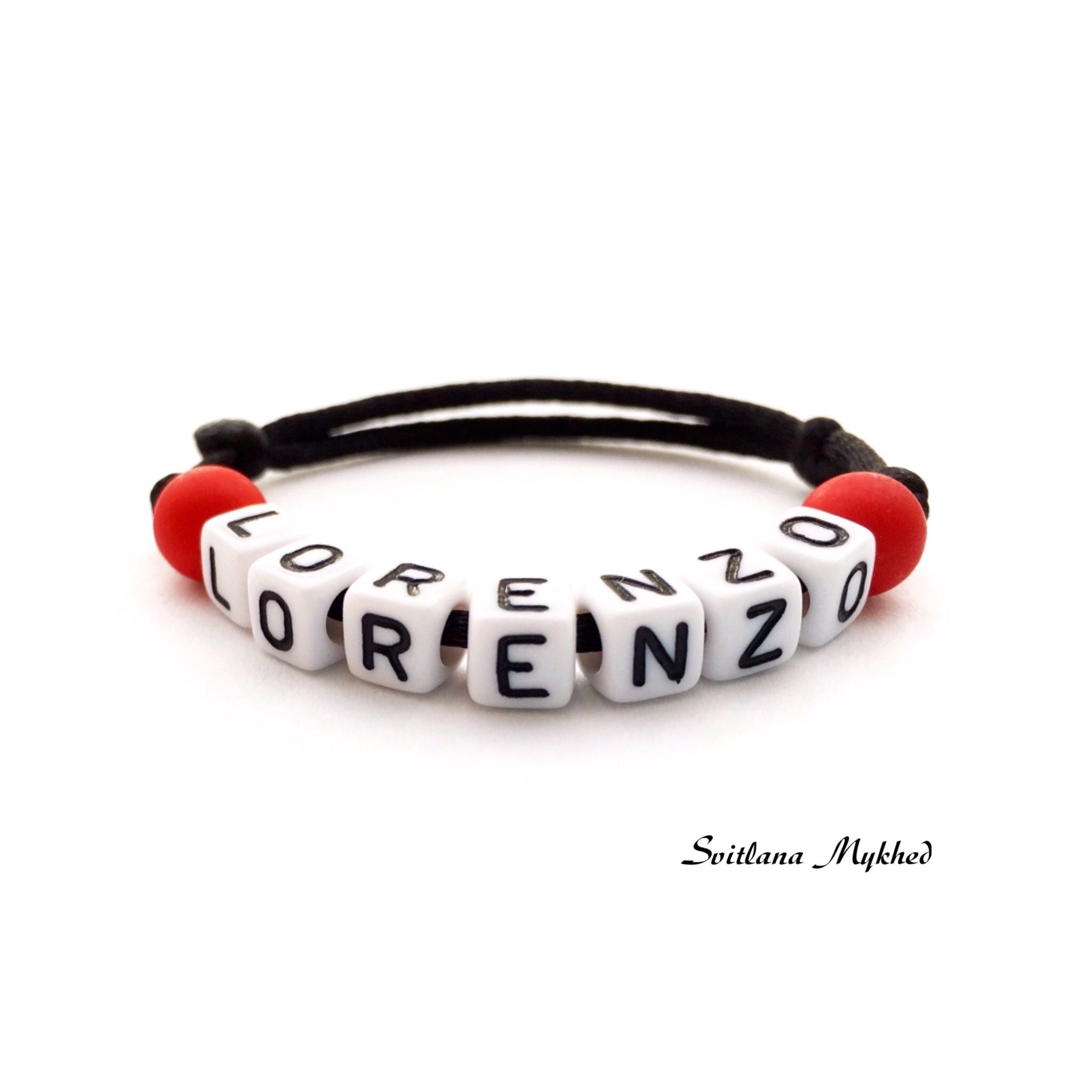 Bracelet Lorenzo Avec Prénom Nom Message Initiales