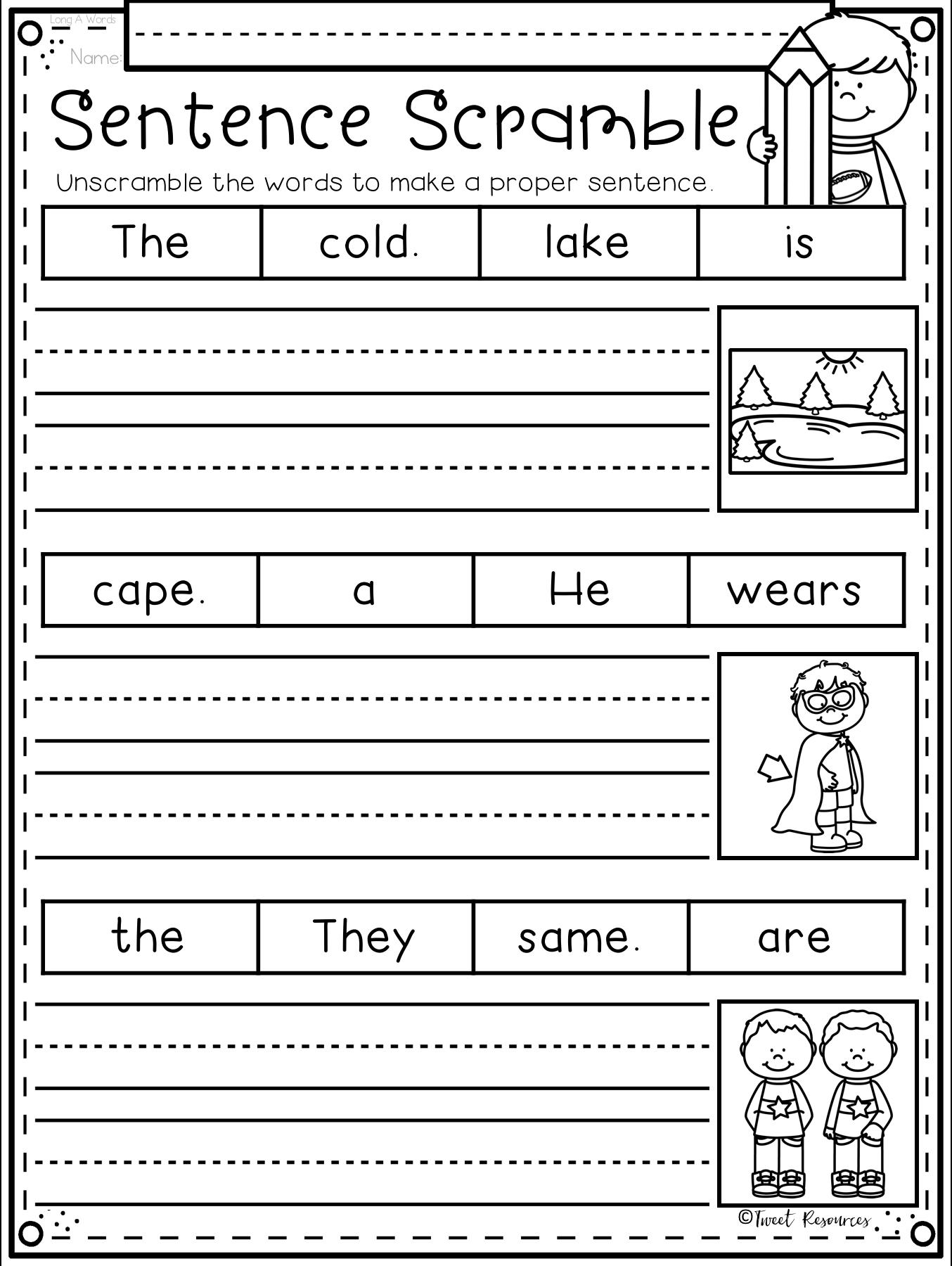 2 The Ultimate Phonics Supplement Bundle With Differentiation Sentences Kindergarten Kindergarten Writing Writing Sentences Worksheets [ 1800 x 1354 Pixel ]