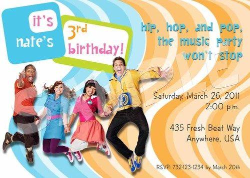 FRESH BEAT BAND Birthday Party Invitation - 5 Designs - New and Old - fresh birthday party invitation designs