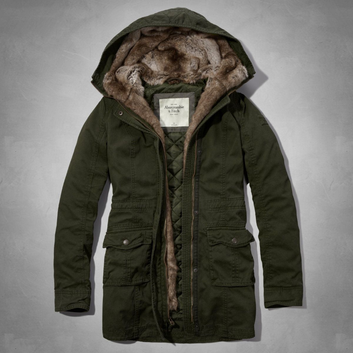 Womens Andrea Fur Lined Parka | Womens Outerwear | Abercrombie.com ...