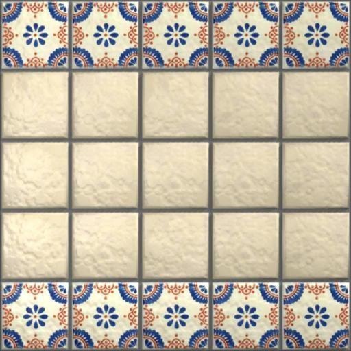 Dollhouse Ceiling Wallpaper: Carrelage Azuleros Motifs 3