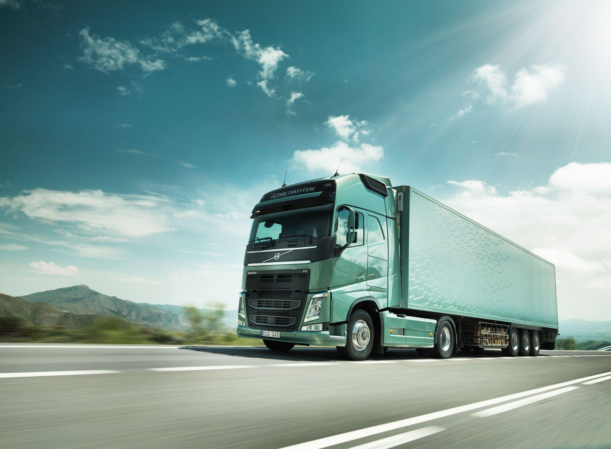 фото красивого грузового вольво эта