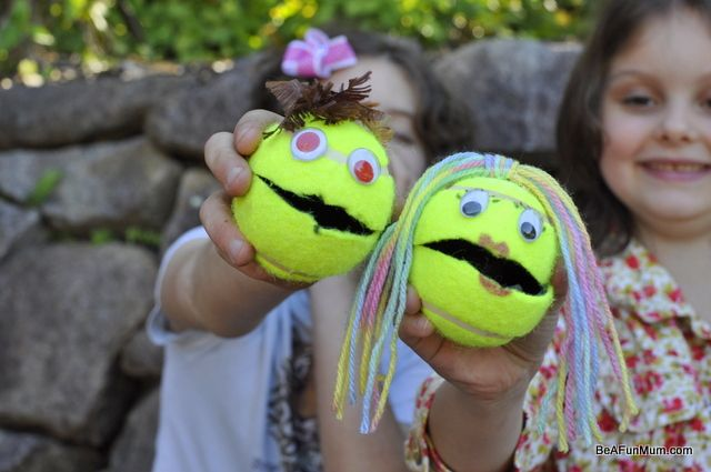 Tennis Ball Puppets Easy For Kids To Decorate And Fun To Make Talk Tennis Ball Crafts Puppets For Kids Tennis Crafts