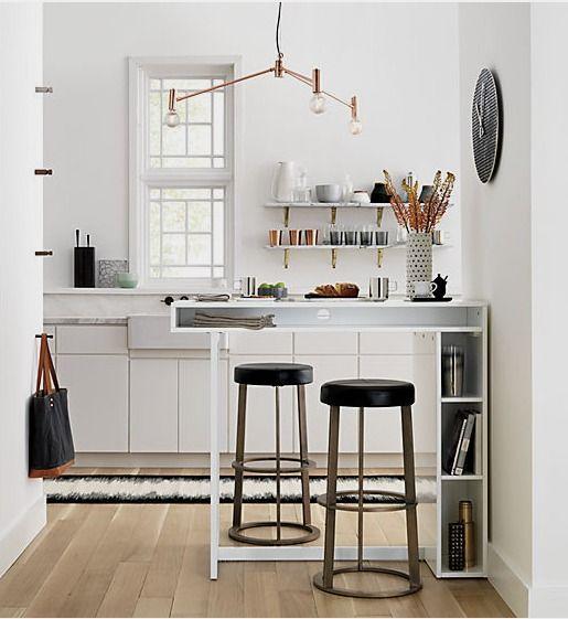 Bar voor in een kleine keuken. Ook leuk in een studio als scheiding ...