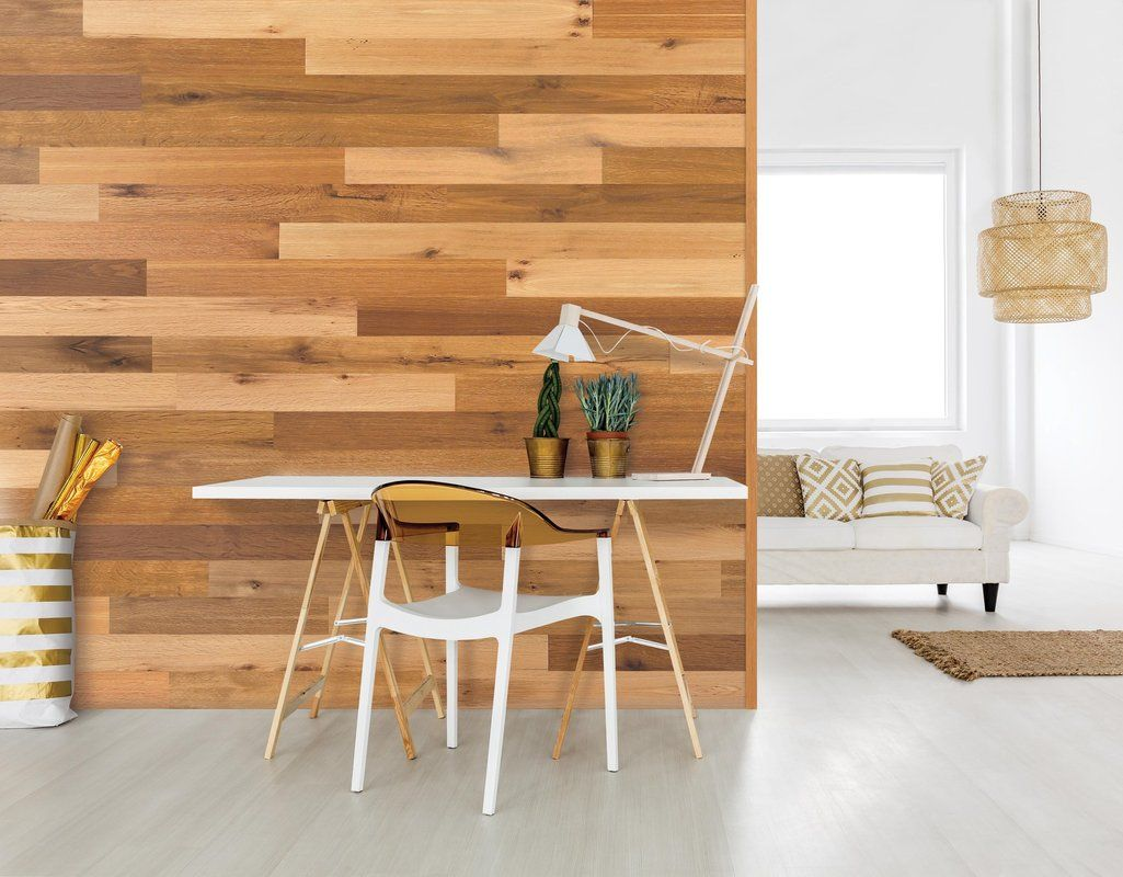 Wallplanks 5 1 Engineered Wood Wall Paneling In Calico Reviews Wayfair Hardwood Wall Panel Wall Planks Wall Paneling